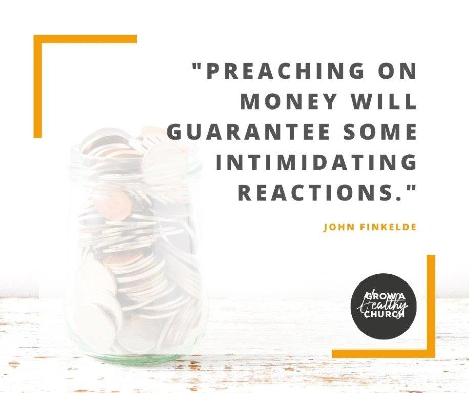 preaching on money will guarantee some intimidating reactions - jar of coins