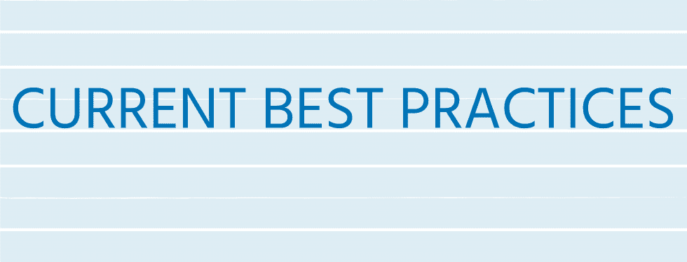 5. Current Best Practices