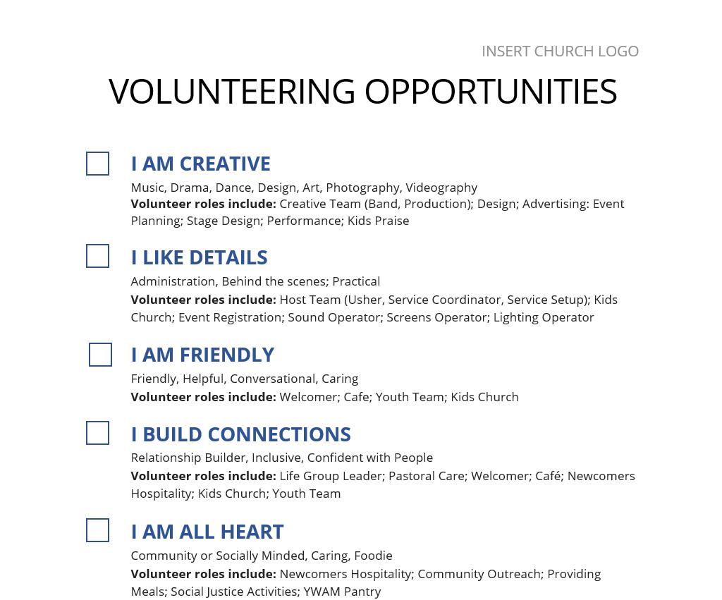 volunteer onboarding opportunities